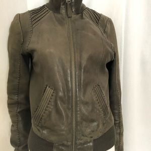 Mackage for Artizia lambskin leather jacket, small